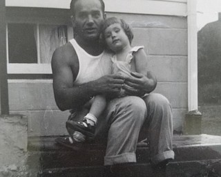 Joseph R. Yankle with his daughter, Kathleen Yankle Funtulis in Youngstown in 1952.