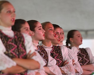 Emma Tomei(16) of Stowe Township, Pa. performs with the  Slavjane Folk Ensemble perform during the Simply Slavic Festival at Federal Plaza East, Saturday, June 17, 2017 in downtown Youngstown...(Nikos Frazier   The Vindicator)