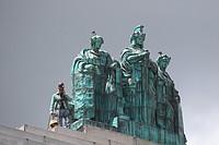 Copper Statues Return Home