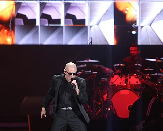 Pitbull performs during the Southwoods Concert For the Valley II at the Covelli Centre, Saturday, July 15, 2017 in Youngstown...(Nikos Frazier | The Vindicator)