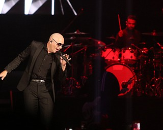 "Pitbull performs ""Hey Baby"" during the Southwoods Concert For the Valley II at the Covelli Centre, Saturday, July 15, 2017 in Youngstown...(Nikos Frazier 