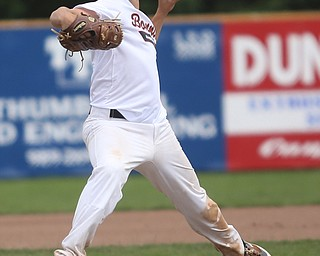 Brooklyn Bonnie Paws pitcher Thomas Pallazoito (1) throws in the first inning as the Baird Brothers take on the Brooklyn Bonnie Paws in the 14u NABF World Series Championship, Sunday, July 16, 2017, at Cene Park in Struthers. Brooklyn won 2-0...(Nikos Frazier   The Vindicator)..