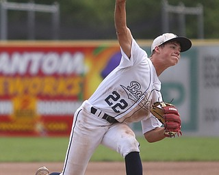 Baird Brothers pitcher Trey Pancake (22) throws in the first inning as the Baird Brothers take on the Brooklyn Bonnie Paws in the 14u NABF World Series Championship, Sunday, July 16, 2017, at Cene Park in Struthers. Brooklyn won 2-0...(Nikos Frazier   The Vindicator)..
