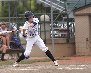 Baird Brothers catcher Connor Meyer (12) swings in the third inning as the Baird Brothers take on the Brooklyn Bonnie Paws in the 14u NABF World Series Championship, Sunday, July 16, 2017, at Cene Park in Struthers. Brooklyn won 2-0...(Nikos Frazier   The Vindicator)..