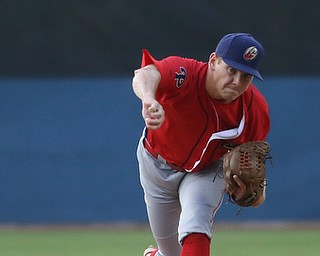 Williamsport Crosscutters pitcher Spencer Howard (29) throws in the second inning as the Scrappers take on the Williamsport Crosscutters, Friday, July 28, 2017, at Eastwood Field in Niles. ..(Nikos Frazier | The Vindicator)..