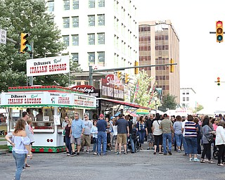 The early evening crowd during the Greater Youngstown Italian Festival, Saturday, August 5, 2017 in Downtown Youngstown...(Nikos Frazier | The Vindicator)