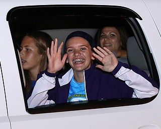 Big smiles from Connie Gougras as the Softball Little League World Series Champions return home, Sunday, August 6, 2017 in Poland...(Nikos Frazier | The Vindicator)