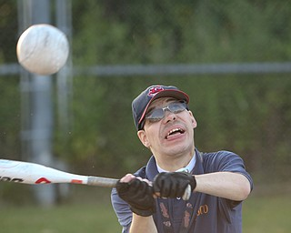 ROBERT K. YOSAY  | THE VINDICATOR..  The Adaptive Sports Program of Ohio - wheelchair softball - at the Covelli Centre parking lot
