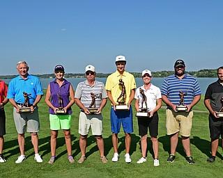 From Left: Pete Marovich, Mark Standohar, Bob Leonard, Toni Notaro, Geno Bellatto, Brandon Pluchinsky, Katie Rogner, Vinny Gala, Hunter Todd and Don Ferko.