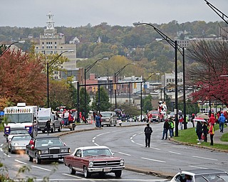 YOUNGSTOWN, OHIO - OCTOBER 28, 2017: Parade participants make their way up Fifth Avenue during the annual YSU homecoming parade, Saturday afternoon. DAVID DERMER | THE VINDICATOR