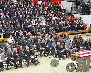 William D Lewis The vindicator  Thousznds of police officers on hand for Justin Leo funeral at YSU Beegley Center f10292017 wdl funeral 2.. 10-29-17.