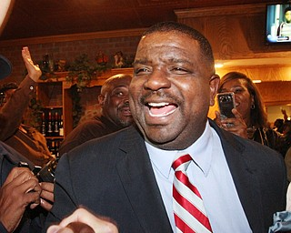 William D Lewis The Vindicator Tito Brown is all smiles during victory party at MVR 11-7-2-17.