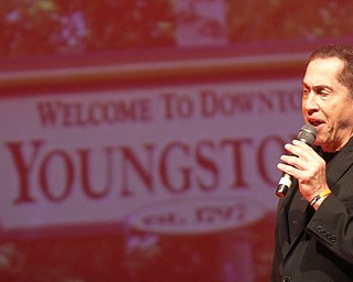 William D. Lewis The Vindicator Roy Firestone, former ESPN sports personality, performed his multimedia program at Packard Music Hall in Warren 11-9-17. The former broadcaster combines music, sports and local flavor in his performance.