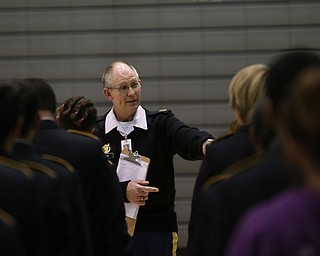 U.S. Army Master Sgt. Doug Moon(Ret.)  instructs the cadets during a J.R.O.T.C drill practice, Thursday, Nov. 16, 2017, at East High School in Youngstown...(Nikos Frazier | The Vindicator)