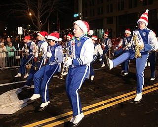 The Lakeview Band performs during the annual Youngstown Christmas Parade and Tree lighting, Friday, Dec. 1, 2017, in downtown Youngstown...(Nikos Frazier | The Vindicator)