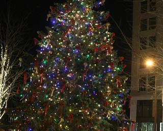 The Tree during the annual Youngstown Christmas Parade and Tree lighting, Friday, Dec. 1, 2017, in downtown Youngstown...(Nikos Frazier | The Vindicator)