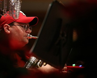 Mike Danko of Champion plays the baritone during a holiday craft show and third annual Tuba Christmas, Sunday, Dec. 3, 2017, at Stambaugh Auditorium in Youngstown...(Nikos Frazier   The Vindicator)