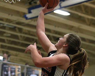 Mineral Ridge's Alexa Harkins (23) goes up for a layup during the fourth quarter as Mineral Ridge High School takes on Lowellville High School, Monday, Dec. 4, 2017, at Lowellville High School in Lowellville. Mineral Ridge won 45-33...(Nikos Frazier | The Vindicator)..