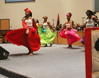 William D. Lewis  The Vindicator Harambe youth dancers perform an African folk dance during the first night of Kwanzaa at New Bethel Baptist Church in Youngstown 12-26-17.