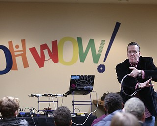Magician Eric Thompson performs during First Night Youngstown, Sunday, Dec. 31, 2017, at OH WOW! in Youngstown. ..(Nikos Frazier | The Vindicator)