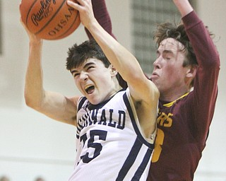 m 25  sr 33.William D. Lewis the Vindicator McDonalds Zach Rasile(25) and South Ranges Brady White(33) during 1-2-18 action at McDonald.