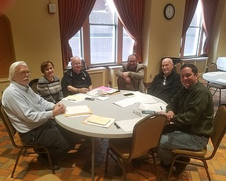 Kiwanis Club of Youngstown annual radio auction committee recently gathered to plan its upcoming 64th auction that will take place from 5 to 11 p.m. April 4 at the iHeart media facility, WNOI. Proceeds will benefit children in the surrounding communities. Committee members, above, from left, are Ron Chordas, chairman; Carla Hunter; Chuck Whitman; T.J. Meister; Tom Eisenbraun; and Mark Samuel.