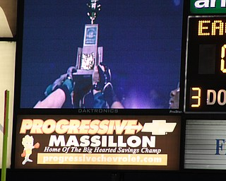 Team holds up Trophy