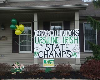 Congratulations Ursuline Irish State Champs!
