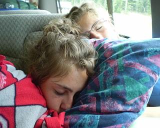 Sleeping on the van