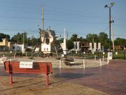 A panorama to view the Lunar Lander replica on Parkman Road in Warren, July 13, 2009.