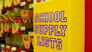 Valley shoppers pick out school supplies.
