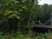 A view of the Suspension Bridge in the Mill Creek MetroParks on Saturday, Sept. 26, 2009.