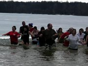 The 2010 Freezin' for a Reason Polar Bear Plunge at Mosquito Lake State Park. Proceeds benefit Ohio Special Olympics.