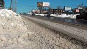 Monday morning commuters found Market St in Boardman still snow covered in places
