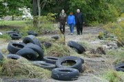 10 years worth of work to clean up several thousand tires on Wilson Ave.