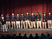 Ursuline High School in Youngstown, Ohio hosts a pep rally to send their football team to the D5 State Championship game against Coldwater at Canton Fawcett Stadium.