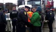 Protestors were arrested outside of the local D&L brine injection well.