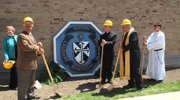 Ground was broken today for a new parish center at St. Dominic Church in Youngstown.