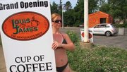 Baristas at a new coffee shop in Boardman wear bikinis.