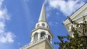 Soaring 175 feet above Youngstown the First Presbyterian Church steeple is a city landmark.