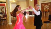 Angela Gorby and her father Bob Koehler dance together.