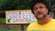 A Youngstown man has turned a vacant trash-filled lot into a garden.