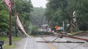 Strong thunderstorms ripped through the Valley downing trees and power lines in Kinsman.