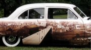 A 1949 Ford is a rolling mural of the Mahoning Valley's Steel history.