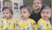The Atsas family of Boardman has triplets. A national television program recently visited them.