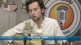 """Nate Jones plays his song, """"Another Night, Another Town""""."""