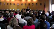 YSU presidential candidate Jim Tressel talks about unions at YSU.