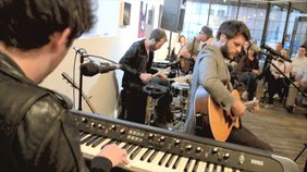 """JD Eicher performs the song """"This Heart"""" at the Soap Gallery for """"The Middle Distance"""" album release party."""