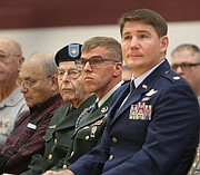 Patriotic pride filled Glenwood Junior High gymnasium Friday, where more than 700 eighth-grade students and 26 local veterans gathered to honor the sacrifices made by the United States military at their Veteran's Day assembly.