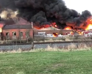 Fire at former Salem China factory